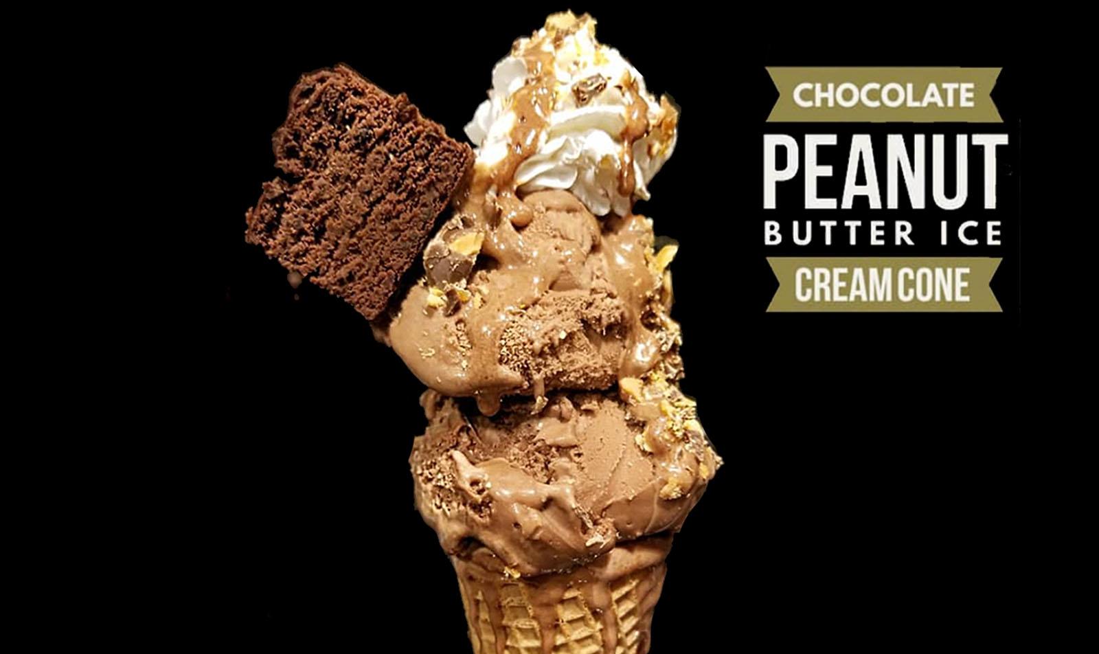 Peanut Butter Ice Cream Cone