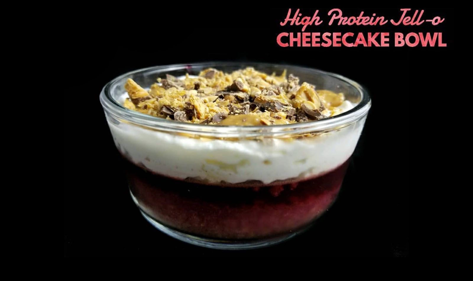 High Protein Jell-O Cheesecake Bowl