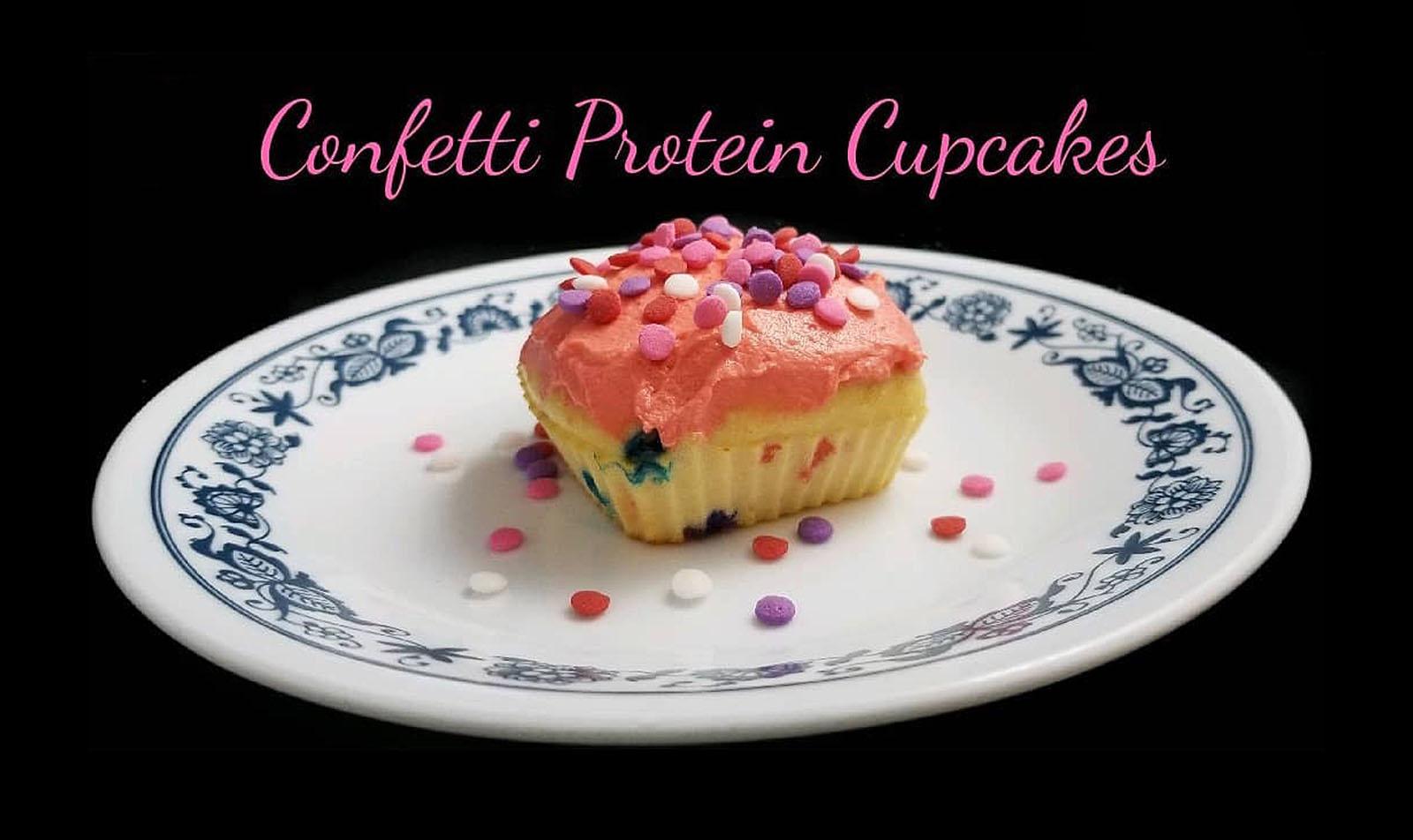 Confetti Protein Cupcakes