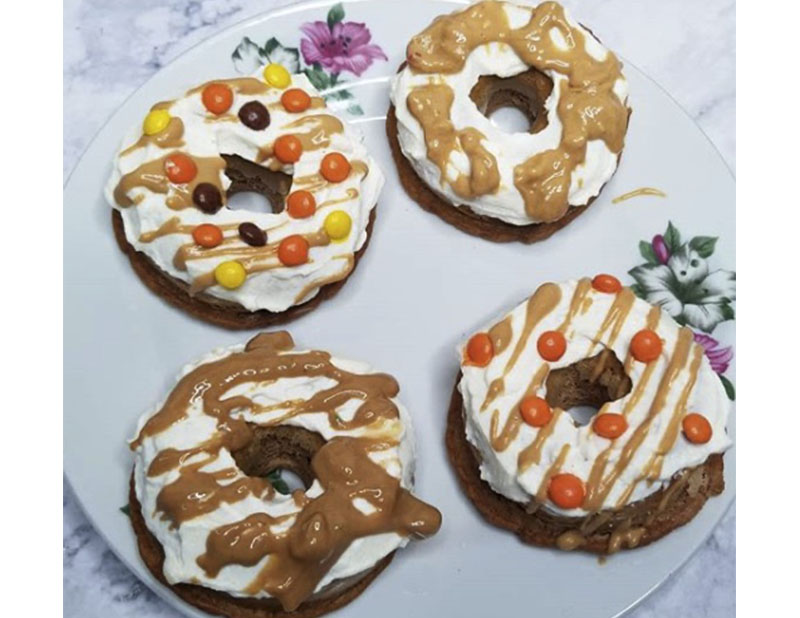 Peanut Butter Protein Donuts